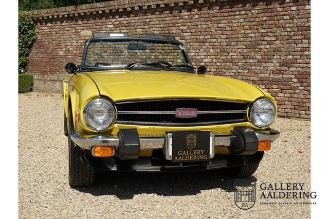 TRIUMPH TR6 matching numbers, unique/original Mimosa col