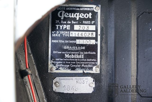 PEUGEOT Andere 203 DECOUVRABLE , very rare, extensive history,