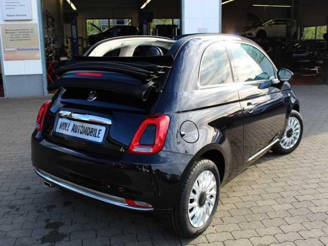FIAT 500C Lounge PDC Klima Bluetooth Alufelgen Dach schwarz